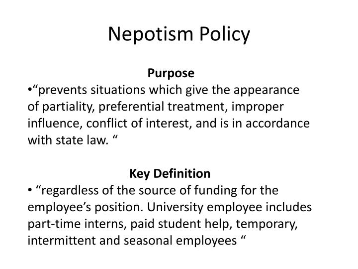 Nepotism Policy