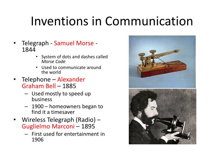 Inventions in Communication