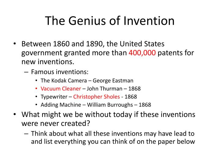The Genius of Invention