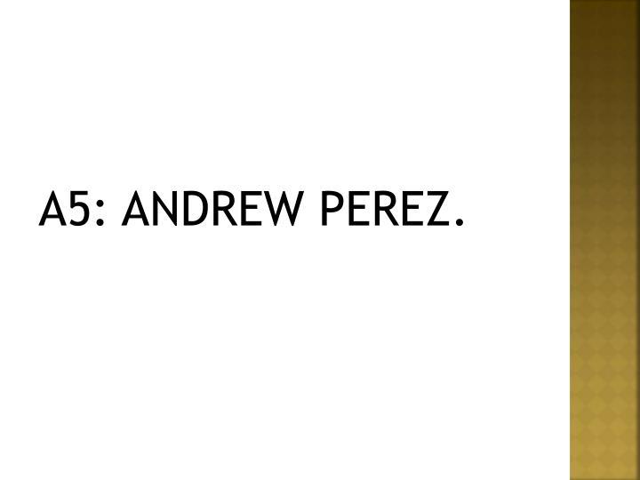 A5: ANDREW PEREZ.
