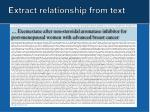 extract relationship from text