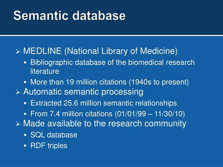 Semantic database