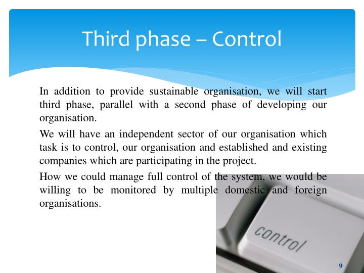 Third phase – Control