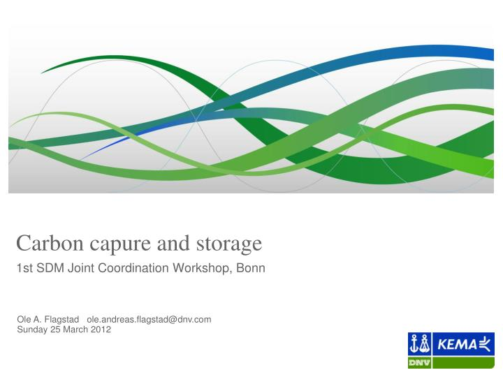 Carbon capure and storage