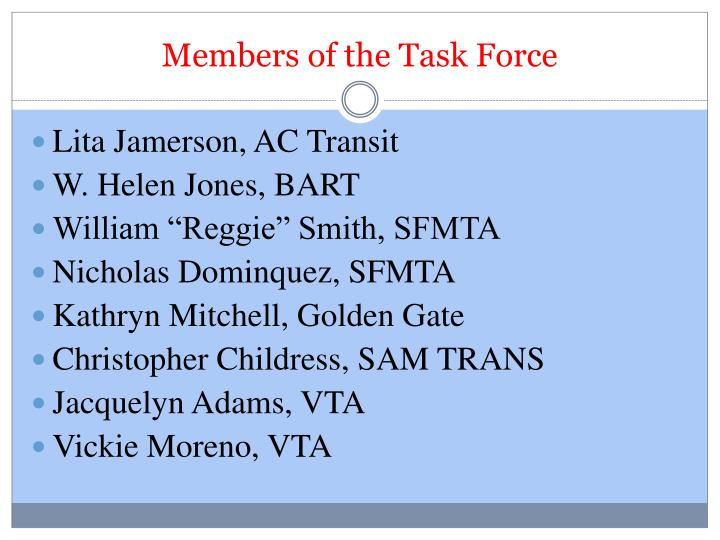 Members of the Task Force