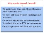 why was the network created