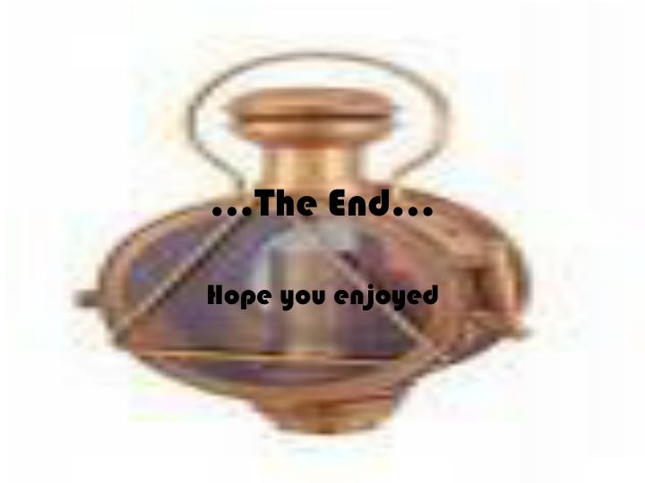 ...The End…