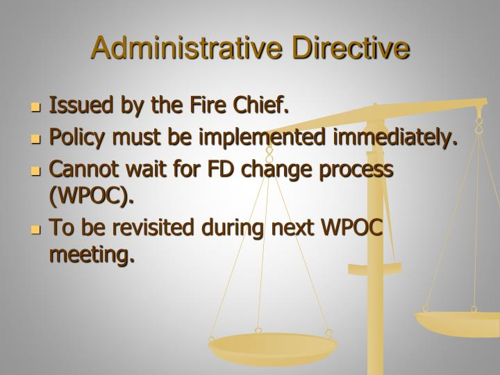 Administrative Directive