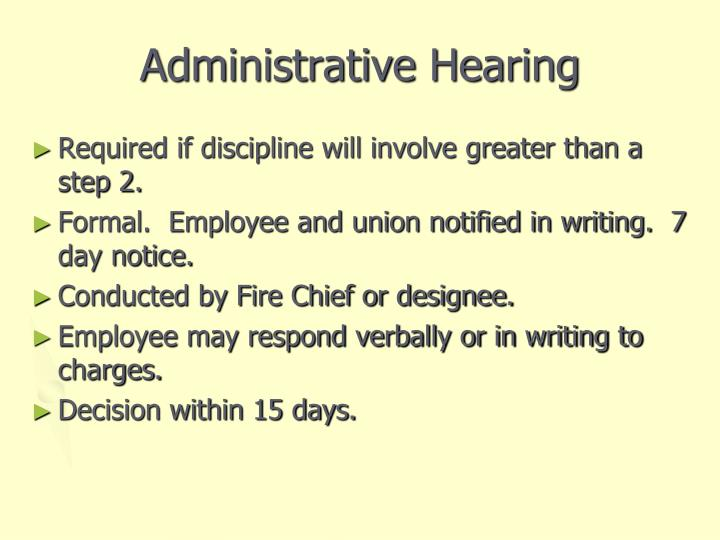 Administrative Hearing