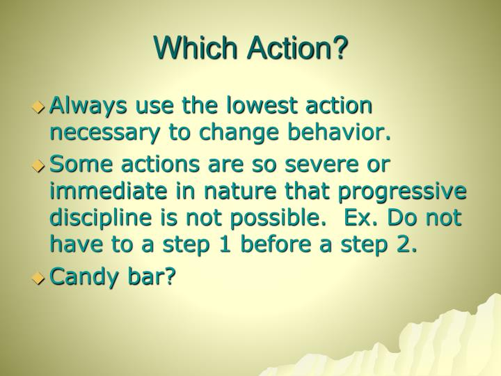 Which Action?