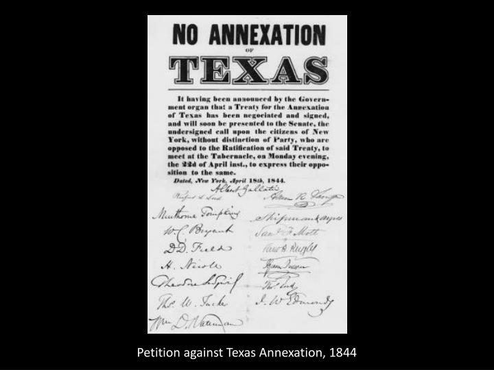 Petition against Texas Annexation, 1844