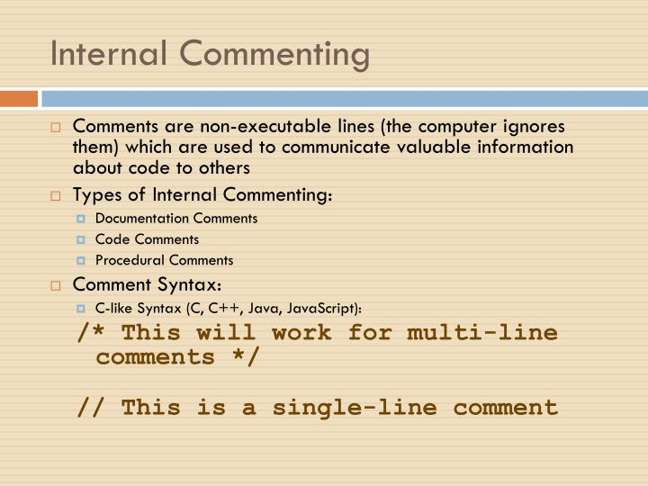 Internal Commenting