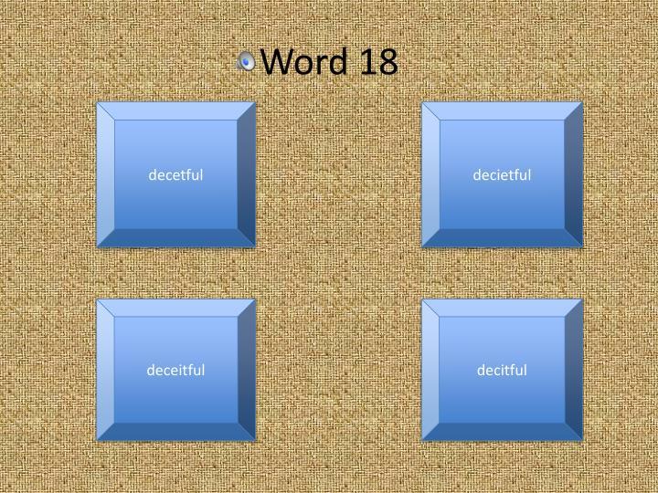 Word 18