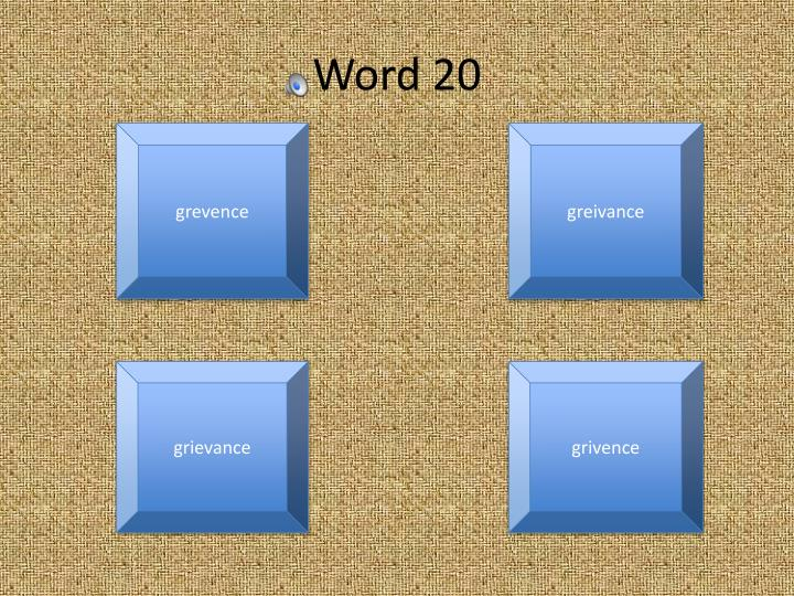 Word 20