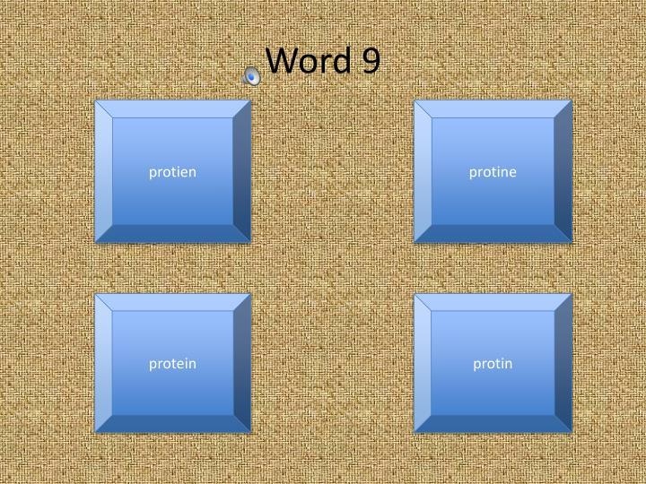 Word 9
