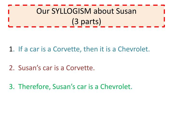Our SYLLOGISM about Susan