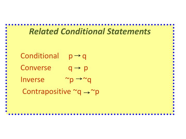 Related Conditional Statements