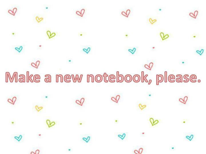 Make a new