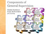 components of general supervision