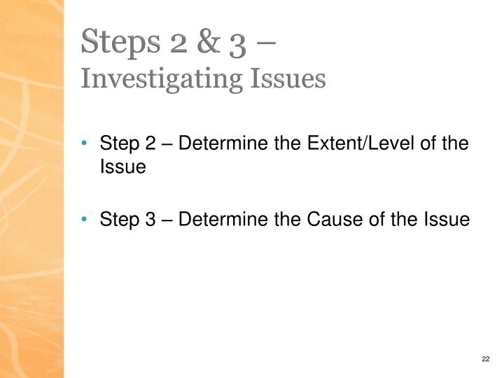 Steps 2 & 3 –