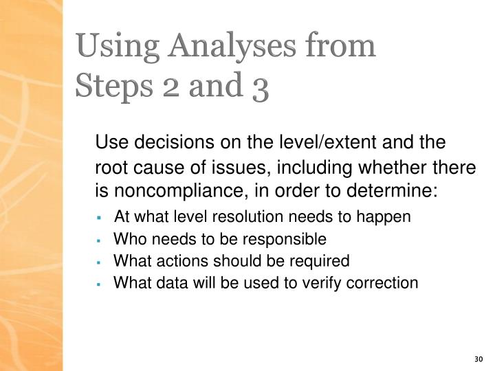 Using Analyses from