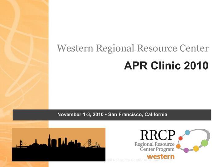 Western Regional Resource Center