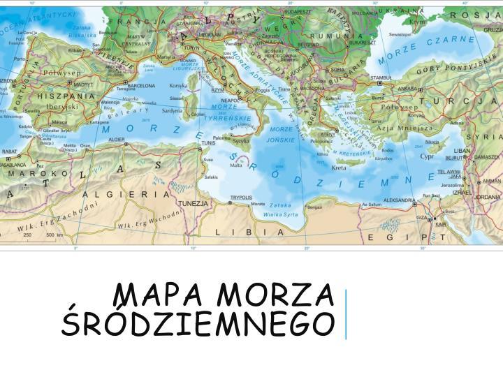 Mapa morza śródziemnego