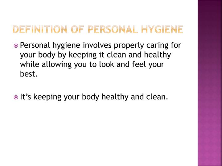 Definition of Personal Hygiene