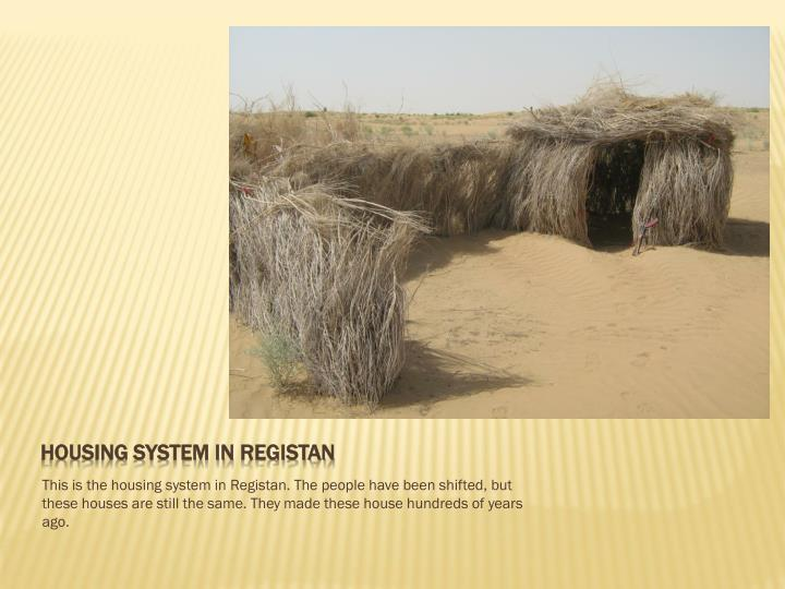 Housing system in