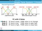 single tank system 3 rules