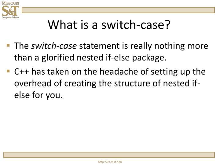 What is a switch case