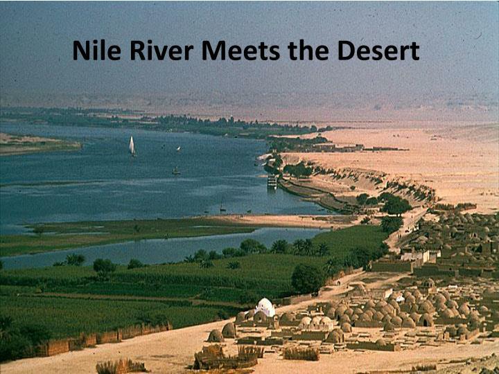 Nile River Meets the Desert
