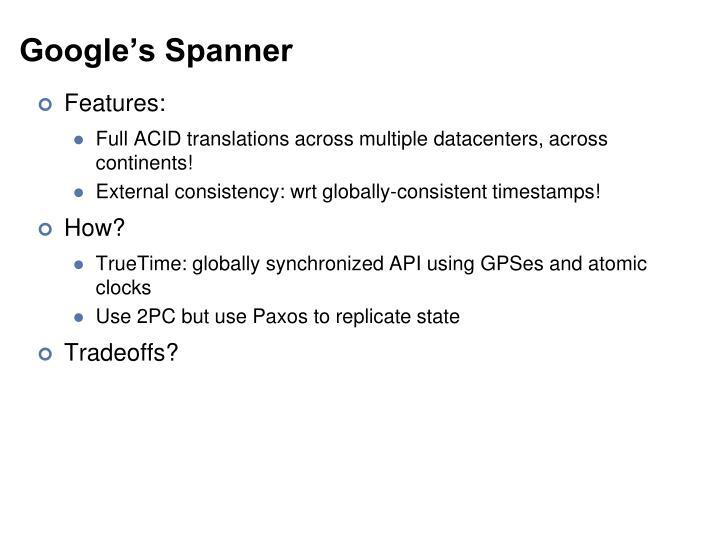 Google's Spanner
