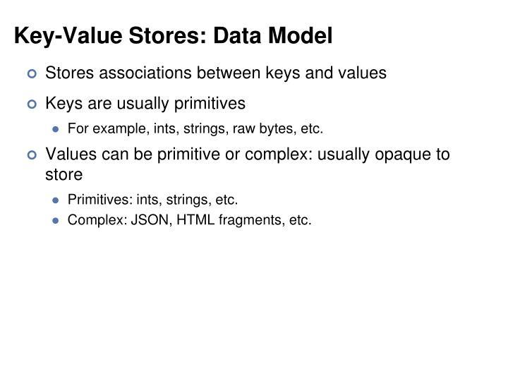 Key-Value Stores: Data Model