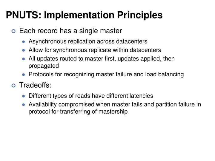PNUTS: Implementation Principles