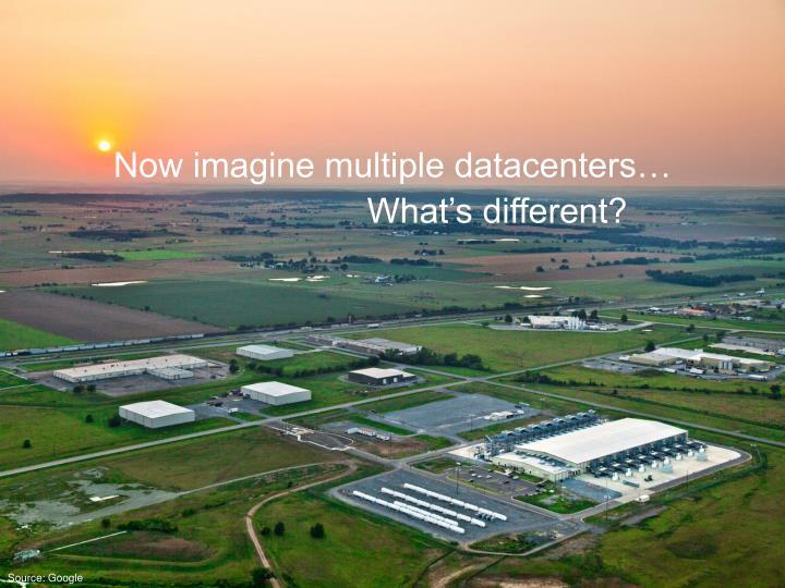 Now imagine multiple datacenters…