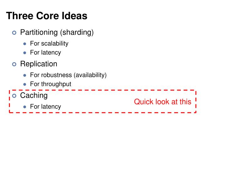 Three Core Ideas
