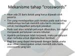 mekanisme tahap crosswords