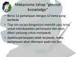 mekanisme tahap general knowledge