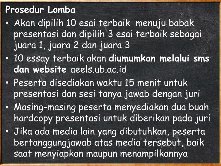 Prosedur Lomba