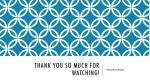 thank you so much for watching
