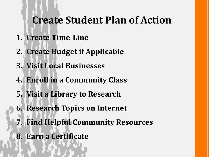 Create Student Plan of Action