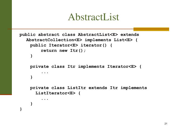 AbstractList