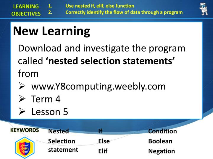 Use nested if,