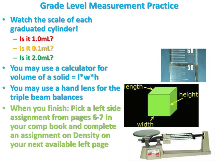 Grade Level Measurement