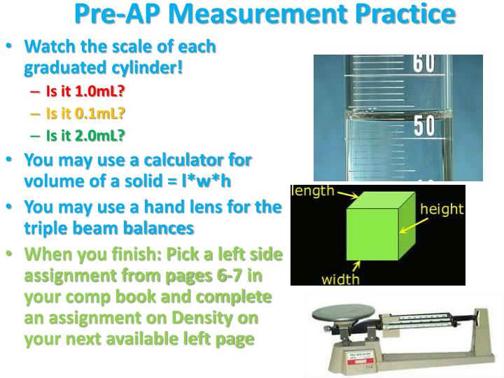 Pre-AP Measurement
