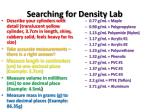 searching for density lab
