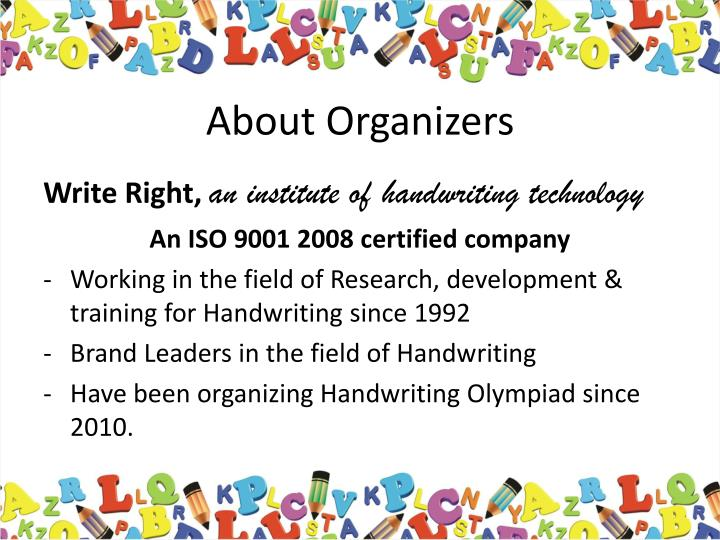 About organizers
