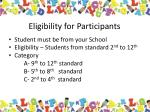 eligibility for participants