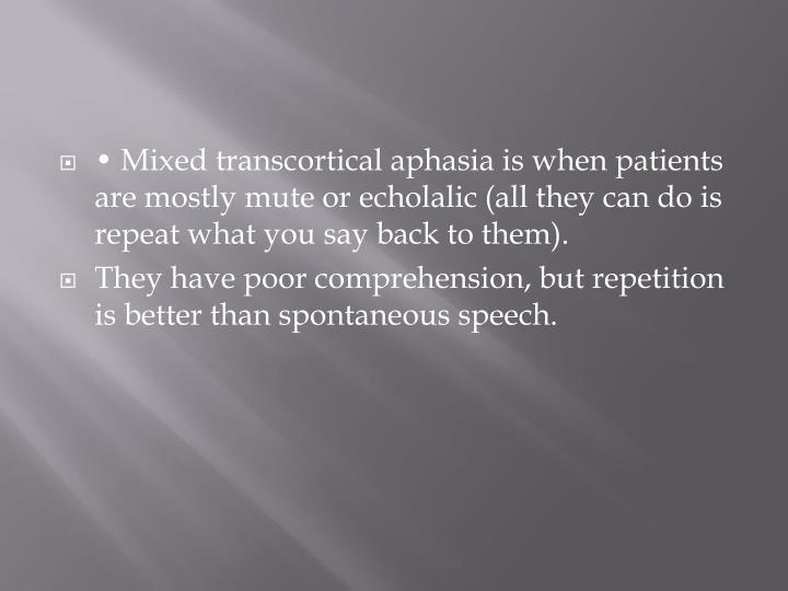 • Mixed